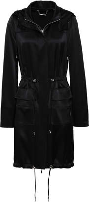 Elie Tahari Crepe-satin Hooded Jacket