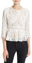 Rebecca Taylor Women's Mix Lace Top