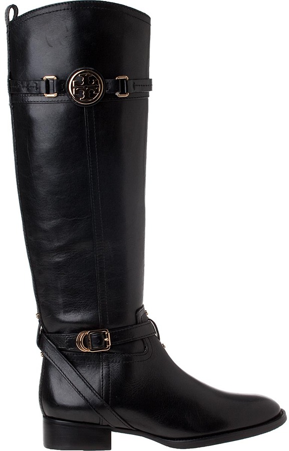 Tory Burch Calista Riding Boot Tan Leather