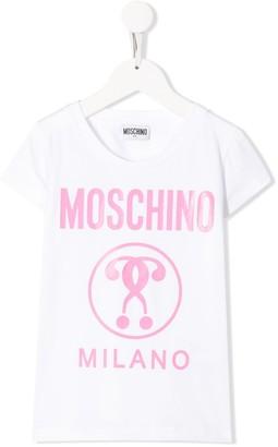 MOSCHINO BAMBINO logo print T-shirt