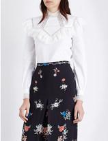 Vilshenko Suzy lace-frill cotton blouse