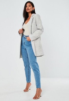 Missguided Stone Basic Formal Coat