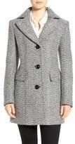 Gallery Women's Notch Collar Tweed Coat
