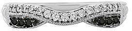 JCPenney FINE JEWELRY 1/4 CT. T.W. Diamond Contoured Wedding Band