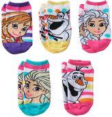 Disney Disney's Frozen Anna, Elsa & Olaf Girls 4-16 5-pk. No-Show Socks