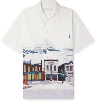 Billionaire Boys Club Camp-Collar Printed Cotton Shirt