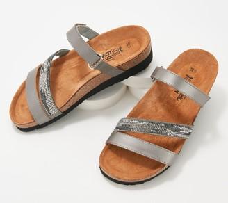 Naot Footwear Leather Multi-Strap Slide Sandals- Columbus