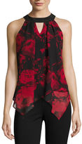 BY AND BY by&by Sleeveless Scoop Neck Chiffon Blouse-Juniors