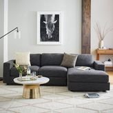 west elm Urban 2-Piece Chaise Sectional - Heathered Tweed