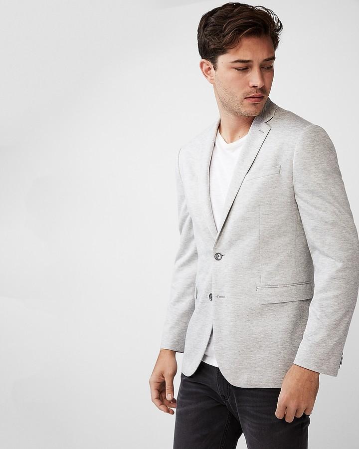 Express Slim Double Knit Blazer