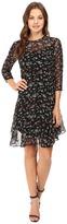 Donna Morgan 3/4 Sleeve A-Line Dress