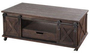 Stylecraft Two Door, One Drawer and Shelf Wooden Coffee Table