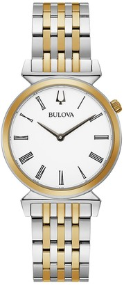Bulova Women's Slim Two-Tone Stainless Steel Watch - 98L264