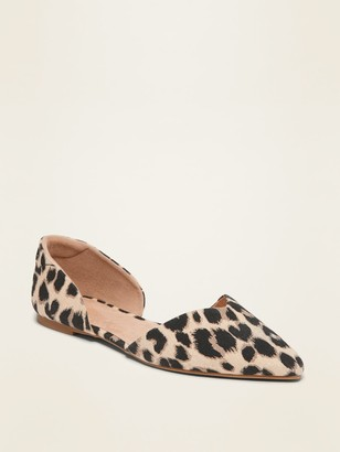Old Navy Textile Pointy-Toe D'Orsay Flats for Women