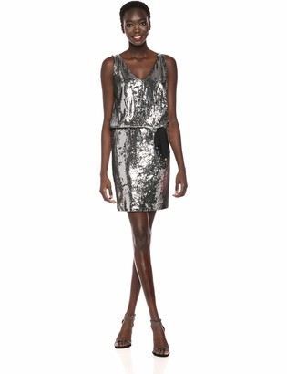 Nicole Miller Women's Mermaid Sequin v-Neck Dress