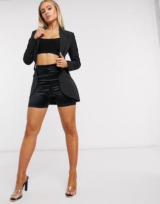 Club L London Club L cut out tailored blazer in black