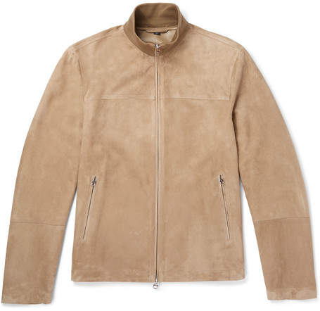 Dunhill Suede Track Jacket
