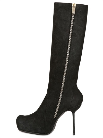 Rick Owens 120mm Laced Up Boots