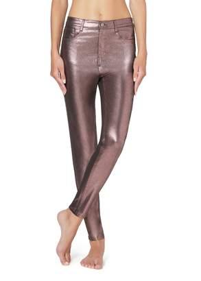 Calzedonia Leather-effect leggings