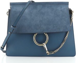 Chloé Faye Shoulder Bag Leather and Suede Medium