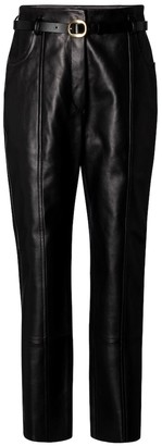 Petar Petrov Palmer B belted leather pants
