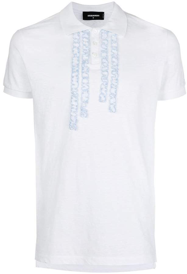 DSQUARED2 ruffle-trimmed polo shirt