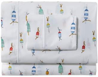 L.L. Bean Sara Fitz Buoy Percale Sheet Set Collection