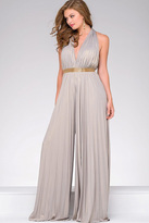 Jovani Open Back Chiffon Jumpsuit 458601