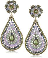 Miguel Ases Prehnite Quartz Teardrop Earrings