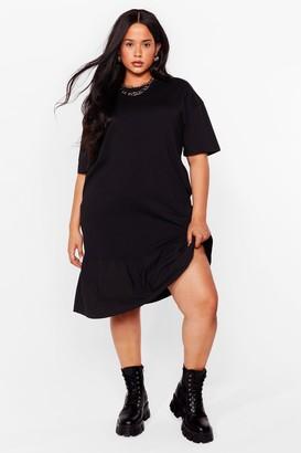 Nasty Gal Womens Baby Frill Then Plus Mini Dress - Black - 16, Black