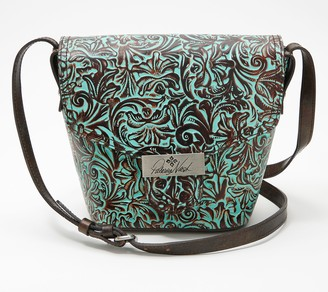 Patricia Nash Leather Cholet Bucket Flap Crossbody