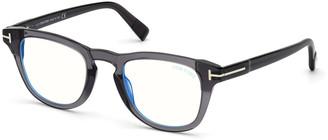Tom Ford Men's Blue-Block Square Optical Glasses
