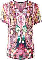 Etro paisley print V-neck top - women - Spandex/Elastane/Viscose - 40
