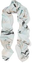 Rag & Bone Printed linen-blend scarf