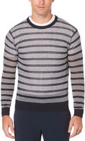 Perry Ellis Long Sleeve Lightweight Stitched Sweater