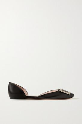 Roger Vivier Trompette D'orsay Leather Ballet Flats - Black