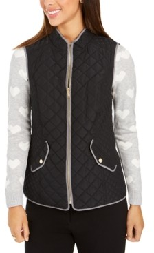 Charter Club Quilted Stand-Collar Vest, Created for Macy's