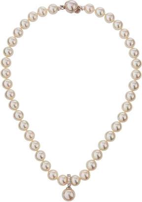 Majorica Pearly Strand Pendant Necklace w/ Cubic Zirconia