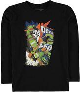 Character Kids Boys Junior TMNT Long Sleeve T Shirt Top Crew Neck Lightweight