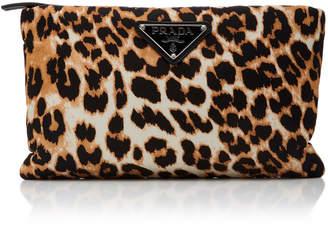 Prada Leopard-Print Shell Shoulder Bag
