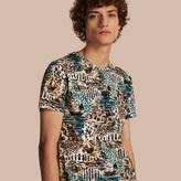 Burberry British Seaside Print Cotton T-shirt