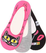 Betsey Johnson Cat No Show Liners - 3 Pack - Women's