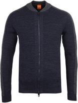 Boss Orange Kabomer Navy Marl Bomber Sweater