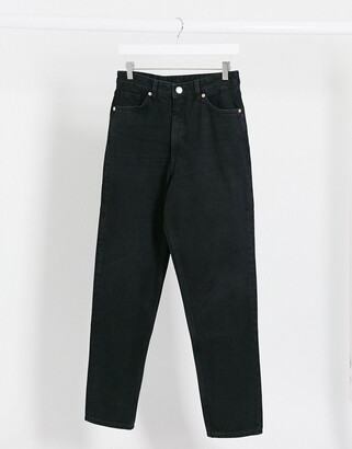Monki Taiki high waist mom jeans with organic cotton in wash black