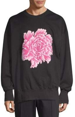 Y-3 Crewneck Cotton Flower Sweatshirt