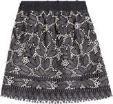 Anna Sui Lace Applique Mini Skirt