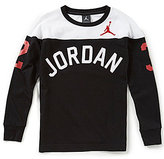 Jordan Big Boys 8-20 Arch Color Block Long-Sleeve Tee