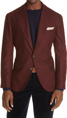 Brunello Cucinelli Wool, Silk & Cashmere Twill Sport Coat
