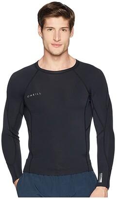 O'Neill Reactor-2 1.5mm Long Sleeve Top (Black/Black/Black) Men's Swimwear
