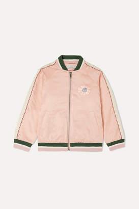 Stella McCartney Floral-embroidered Satin Bomber Jacket - Pink